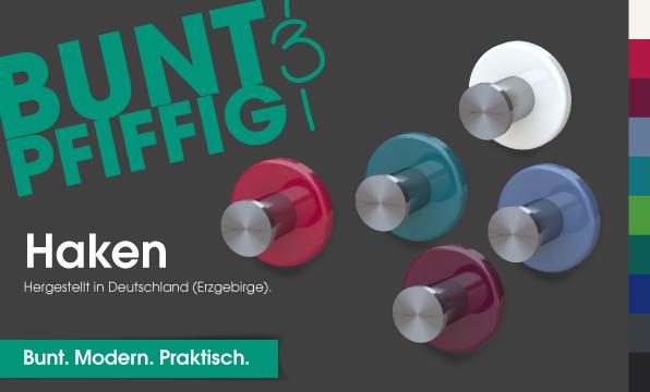 Banner Haken BUNT & PFIFFIG