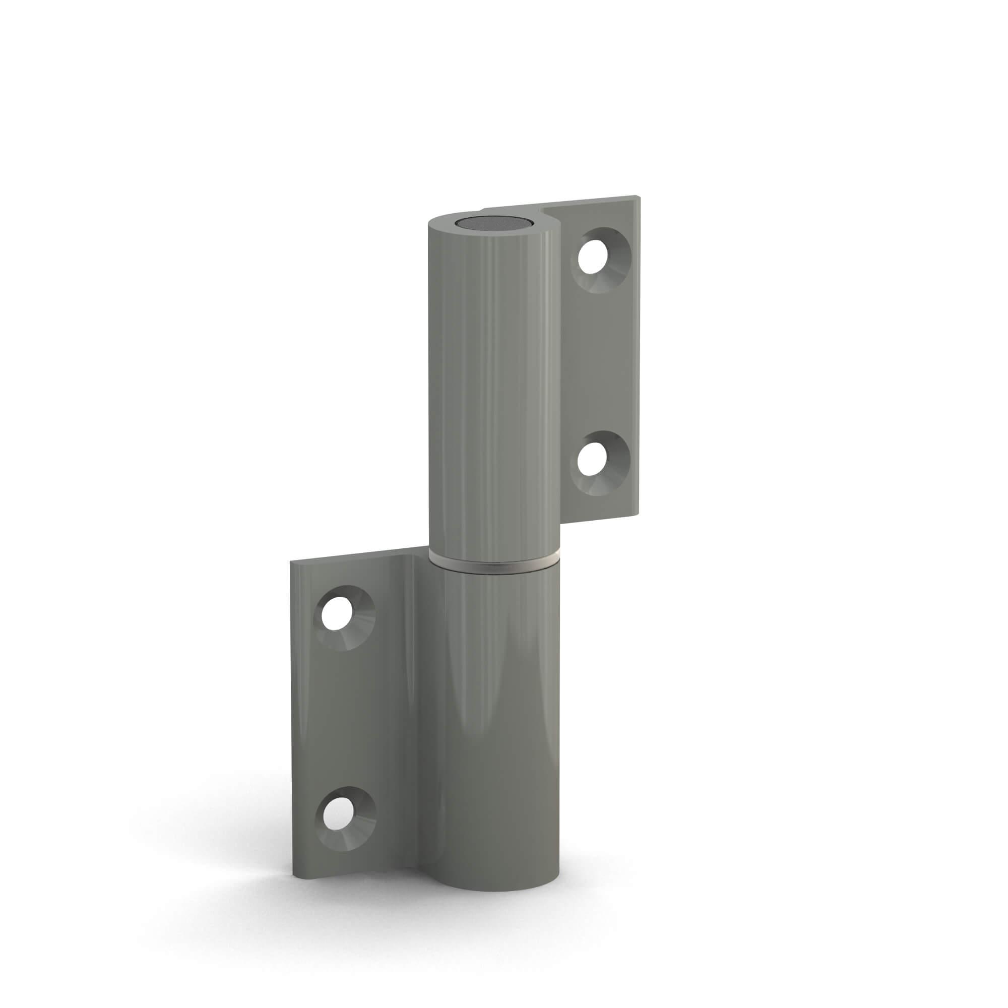 BUNT & PFIFFIG Doppelpack Möbelband Möbelscharnier Aufschraubband Türscharnier aus Aluminium Grau Achatgrau Hellgrau RAL 7038 DIN-Richtung: Links - aufschraubbar