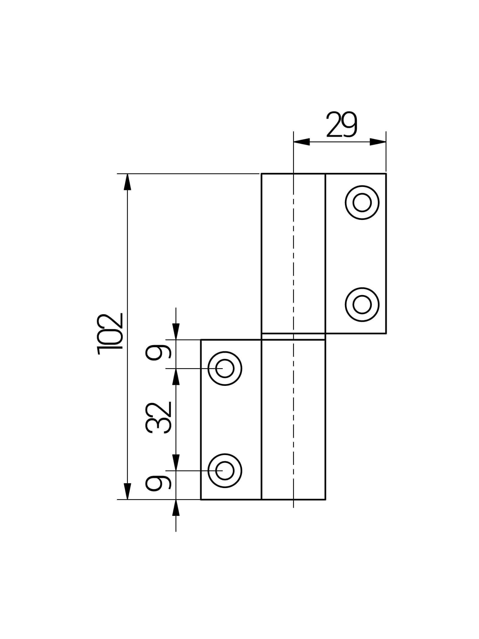 BUNT & PFIFFIG Doppelpack Möbelband Möbelscharnier Aufschraubband Türscharnier aus Aluminium Grau Achatgrau Hellgrau RAL 7038 DIN-Richtung: Links - aufschraubbar-2