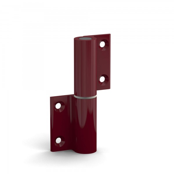 BUNT & PFIFFIG Doppelpack Aufschraubband Türscharnier aus Aluminium pulverbeschichtet Rot