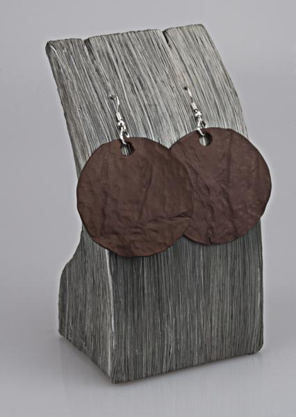 Ohrschmuck mit Anhänger Schokoladenbraun