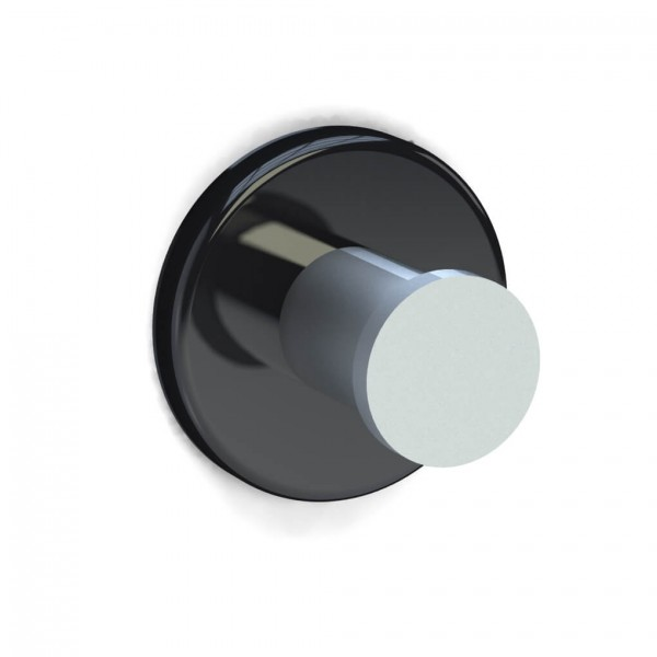 Bunt & Pfiffig Universalhaken aus Aluminium pulverbeschichtet RAL 9005 Tiefschwarz