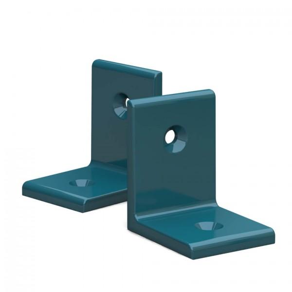 BUNT & PFIFFIG Winkelverbinder aus Aluminium Doppelpack pulverbeschichtet Wasserblau