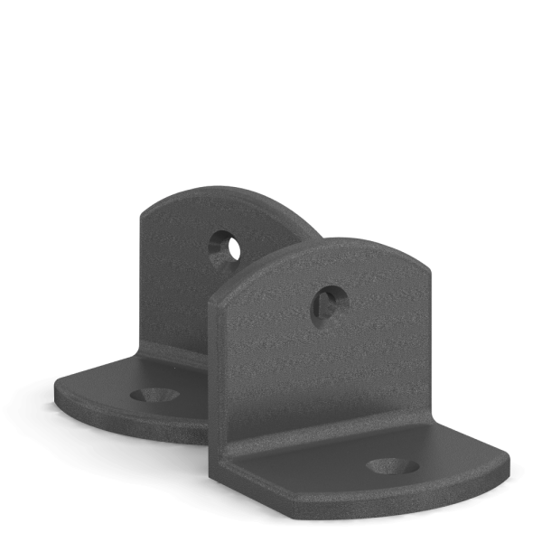 BUNT & PFIFFIG Doppelpack Winkel Eisenglimmer-Grau