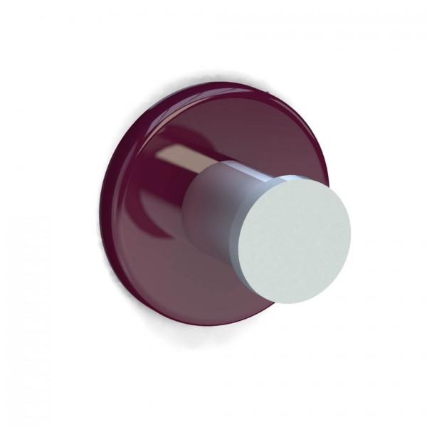 Bunt & Pfiffig Universalhaken aus Aluminium pulverbeschichtet RAL 4004 Bordeaux