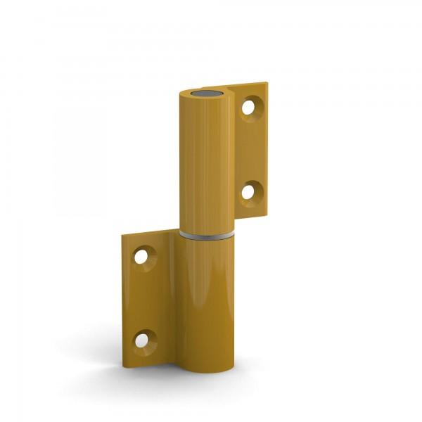 BUNT & PFIFFIG Doppelpack Aufschraubband Türscharnier aus Aluminium pulverbeschichtet Gelb