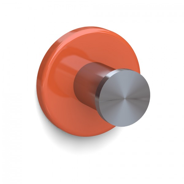 Bunt & Pfiffig Universalhaken aus Edelstahl pulverbeschichtet RAL 2003 Orange