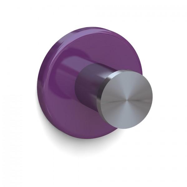 Bunt & Pfiffig Universalhaken aus Edelstahl pulverbeschichtet RAL 4008 Violett