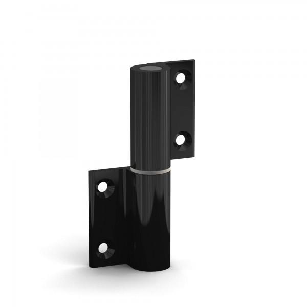 BUNT & PFIFFIG Doppelpack Aufschraubband Türscharnier aus Aluminium pulverbeschichtet Schwarz