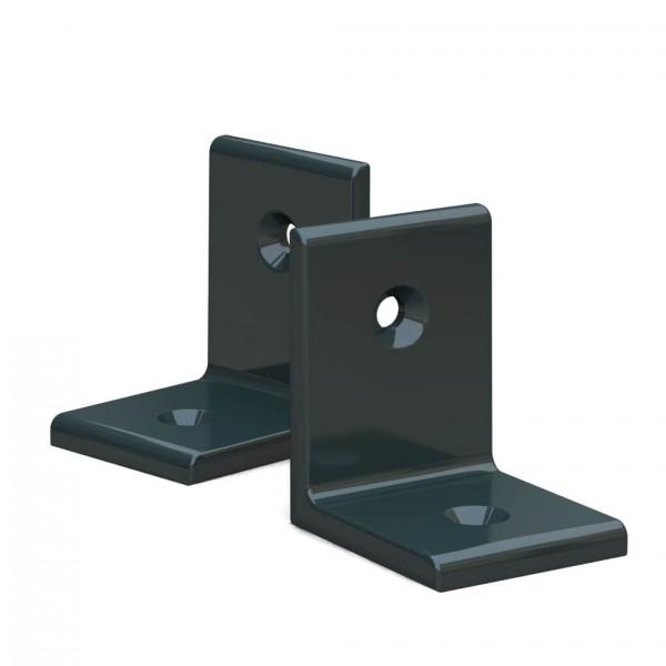 BUNT & PFIFFIG Winkelverbinder aus Aluminium Doppelpack pulverbeschichtet Schwarzgrün