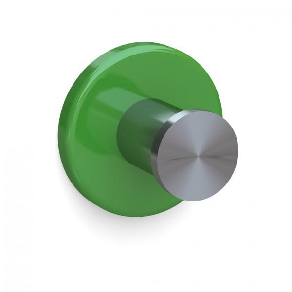 Bunt & Pfiffig Universalhaken aus Edelstahl pulverbeschichtet RAL 6018 Apfelgrün