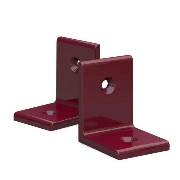 BUNT & PFIFFIG Winkelverbinder aus Aluminium Doppelpack pulverbeschichtet Rubinrot