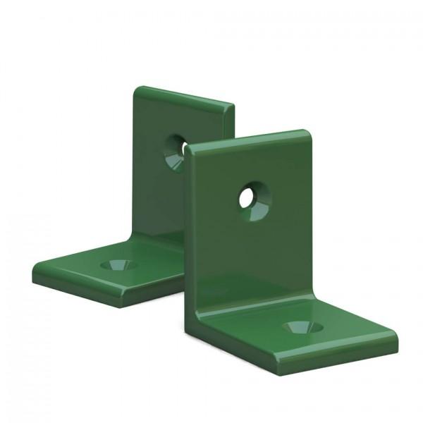 BUNT & PFIFFIG Winkelverbinder aus Aluminium Doppelpack pulverbeschichtet Maigrün
