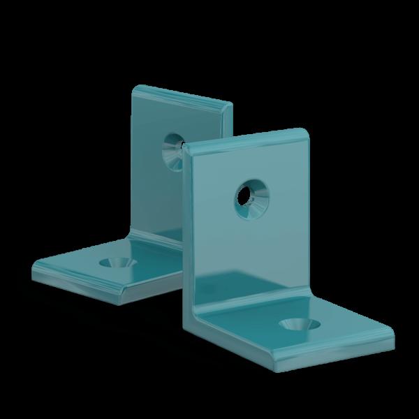 BUNT & PFIFFIG Winkelverbinder aus Aluminium Doppelpack pulverbeschichtet Helltürkis
