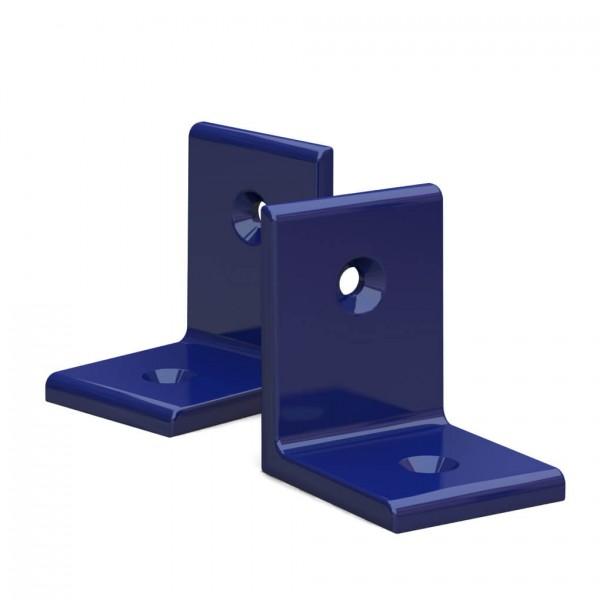 BUNT & PFIFFIG Winkelverbinder aus Aluminium Doppelpack pulverbeschichtet Ultramarinblau