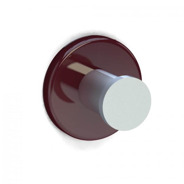 Bunt & Pfiffig Universalhaken aus Aluminium pulverbeschichtet RAL 3011 Braunrot