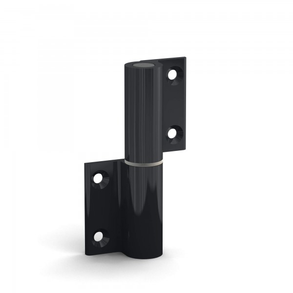 BUNT & PFIFFIG Doppelpack Aufschraubband Türscharnier aus Aluminium Dunkelgrau, DIN-Richtung: links