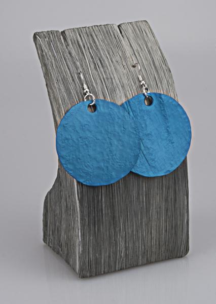 Ohrschmuck mit Anhänger Ozeanblau
