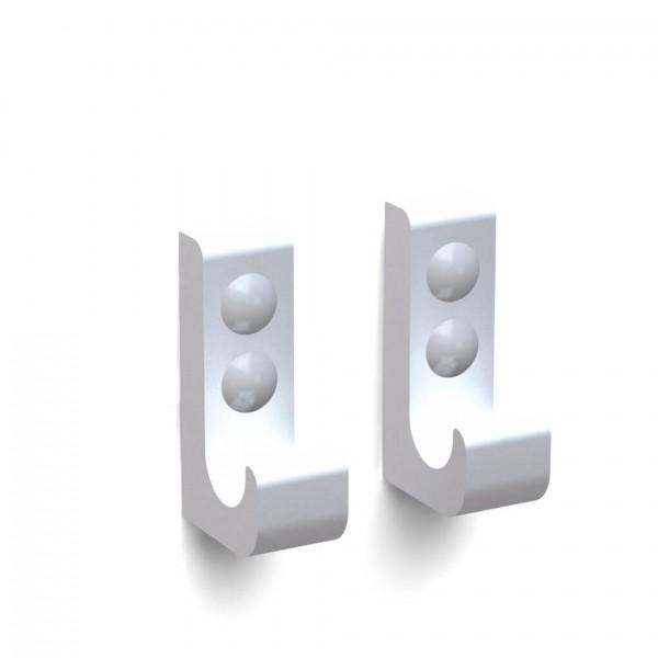 Bunt & Pfiffig Doppelpack Kleiderhaken Wandhaken Handtuchhalter Universalhaken Silber eloxiert
