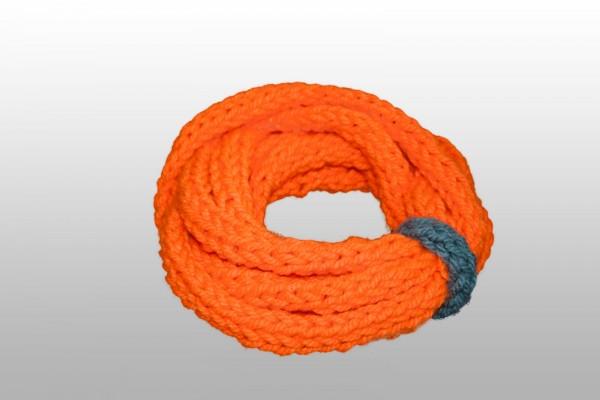 Loop-Schal Neon-Orange, grau