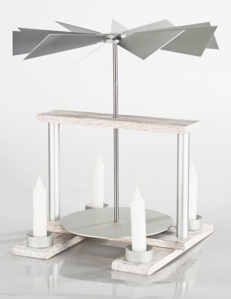 """luma-Pyramide """"duo"""" YANG WEISS/Aluminium"""