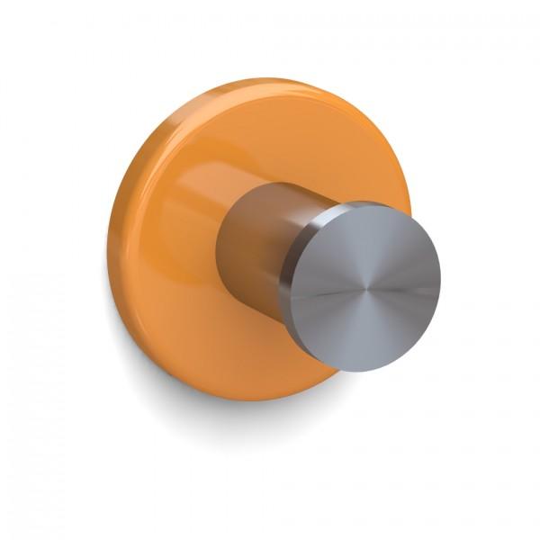 Bunt & Pfiffig Universalhaken aus Edelstahl pulverbeschichtet RAL 1028 Melonengelb