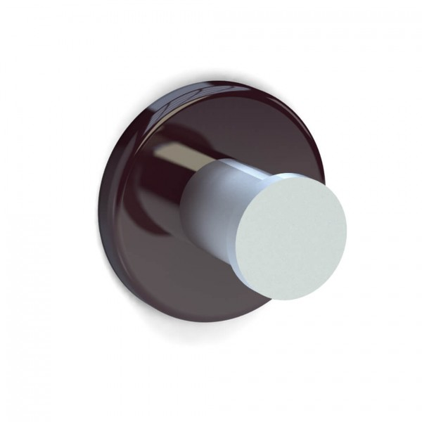 Bunt & Pfiffig Universalhaken aus Aluminium pulverbeschichtet RAL 3005 Weinrot