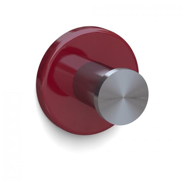 Bunt & Pfiffig Universalhaken aus Edelstahl pulverbeschichtet RAL 3003 Rubinrot