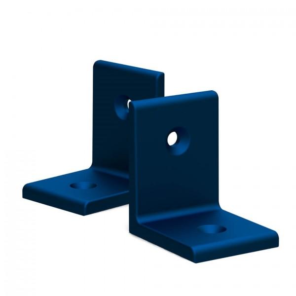 BUNT & PFIFFIG Winkelverbinder aus Aluminium Doppelpack Blau eloxiert