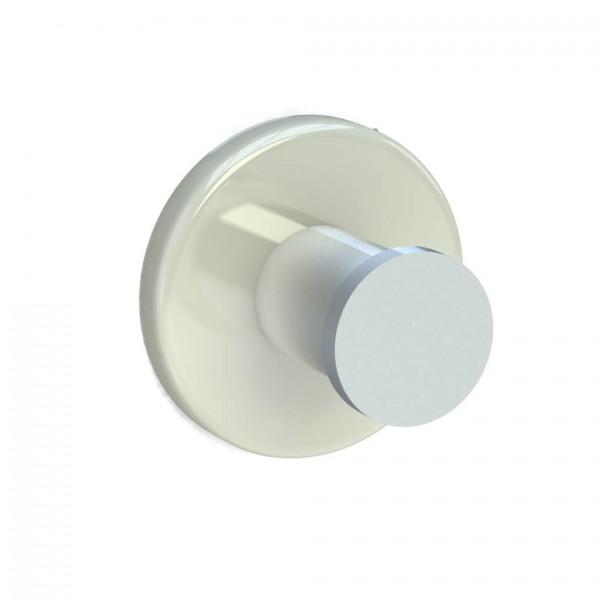 Bunt & Pfiffig Universalhaken aus Aluminium pulverbeschichtet RAL 9001 Cremeweiß
