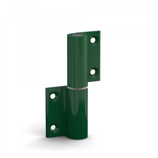 BUNT & PFIFFIG Doppelpack Aufschraubband Türscharnier aus Aluminium Grün, DIN-Richtung: links