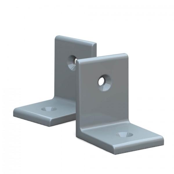BUNT & PFIFFIG Winkelverbinder aus Aluminium Doppelpack pulverbeschichtet Achatgrau