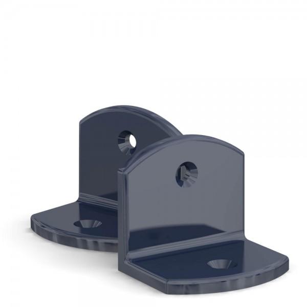 BUNT & PFIFFIG Doppelpack Winkel Stahlblau