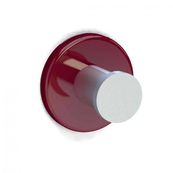 Bunt & Pfiffig Universalhaken aus Aluminium pulverbeschichtet RAL 3003 Rubinrot