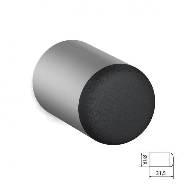 BUNT & PFIFFIG Wandtürpuffer aus Aluminium Silber eloxiert ähnlich RAL 9006 Weißaluminium