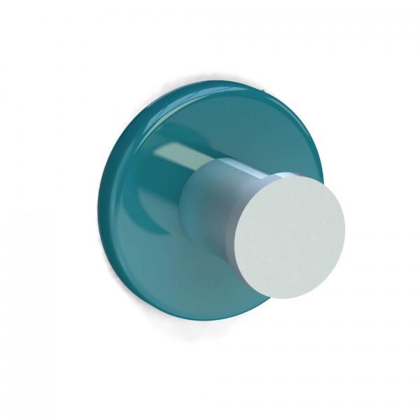 Bunt & Pfiffig Universalhaken aus Aluminium pulverbeschichtet RAL 5018 Türkisblau