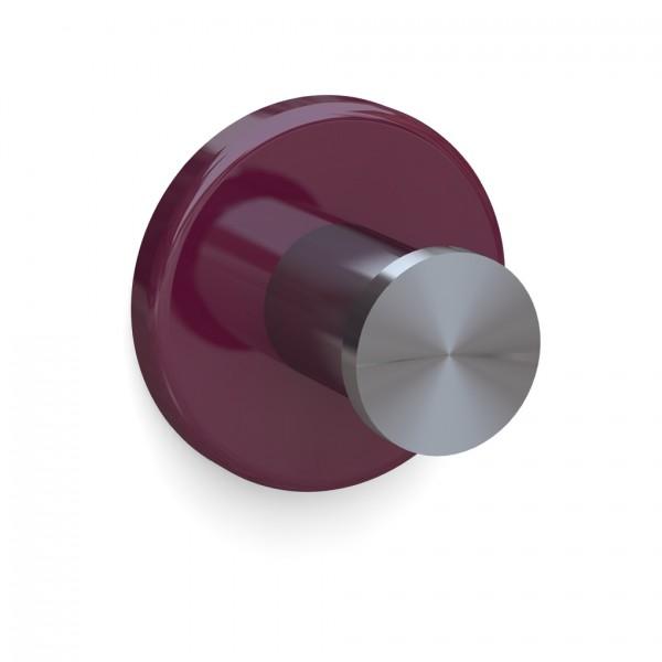 Bunt & Pfiffig Universalhaken aus Edelstahl pulverbeschichtet RAL 4004 Bordeaux