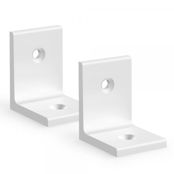 BUNT & PFIFFIG Winkelverbinder aus Aluminium Doppelpack Silber eloxiert