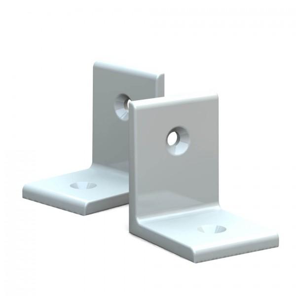 BUNT & PFIFFIG Winkelverbinder aus Aluminium Doppelpack pulverbeschichtet Verkehrsweiß