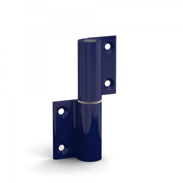 BUNT & PFIFFIG Doppelpack Aufschraubband Türscharnier aus Aluminium pulverbeschichtet Blau