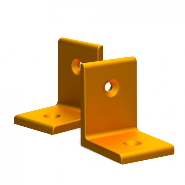 BUNT & PFIFFIG Winkelverbinder aus Aluminium Doppelpack Orange eloxiert