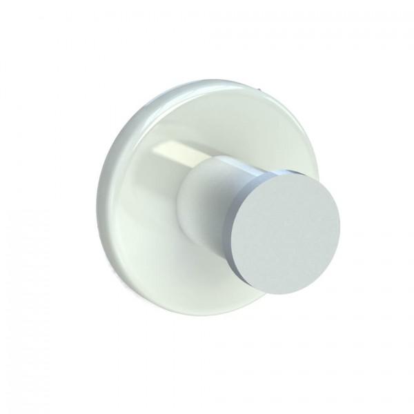 Bunt & Pfiffig Universalhaken aus Aluminium pulverbeschichtet RAL 9010 Reinweiß