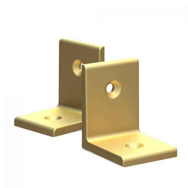 BUNT & PFIFFIG Winkelverbinder aus Aluminium Doppelpack Gold eloxiert