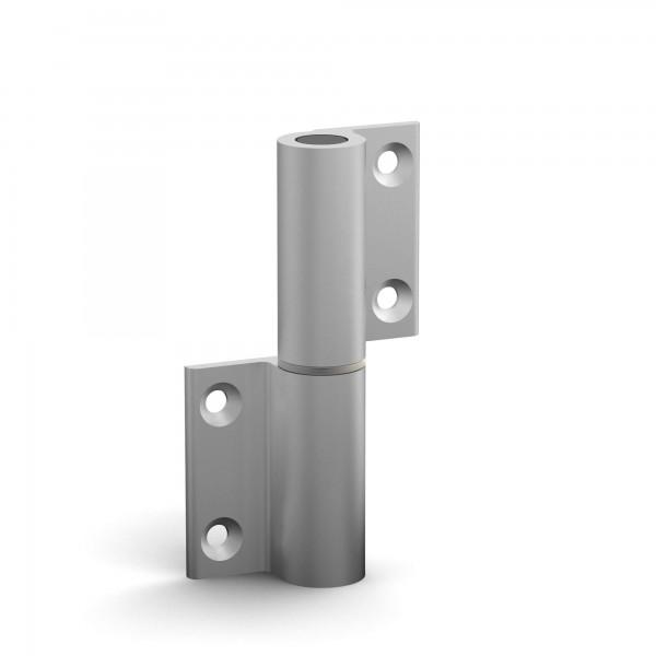 BUNT & PFIFFIG Doppelpack Aufschraubband Türscharnier aus Aluminium eloxiert Silber